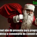 Papai Noel não dá presente para programador que deixa o comentário do commit vazio